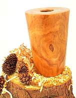 Image of an Cherry hollow vessel made by Chris Rymer of Inside Out Wood Art