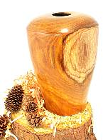 Image of an Laburnum hollow vessel made by Chris Rymer of Inside Out Wood Art