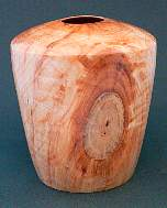 Image of an Sorbus hollow vessel made by Chris Rymer of Inside Out Wood Art